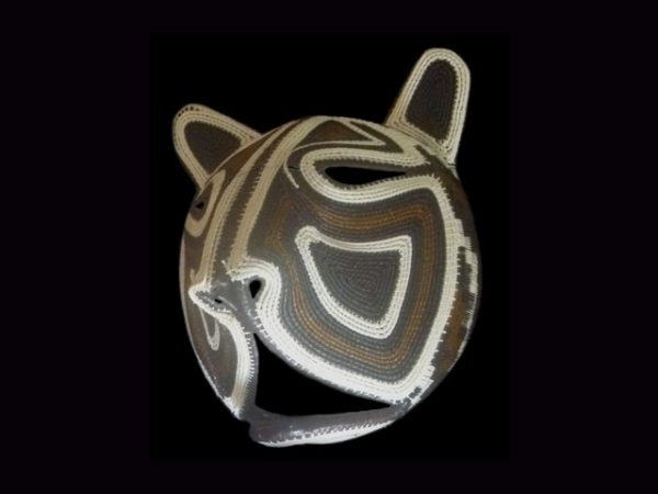 neo-tropical mammal woven indigenous mask Darien Panama