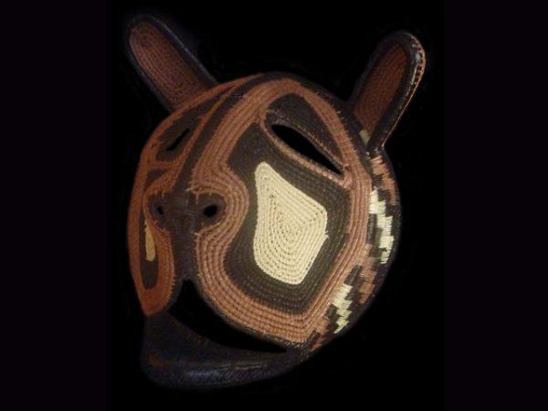 strange creature woven animal mask indigenous art Panama