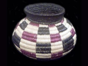 checkerboard split-leaf traditional indigenous basket