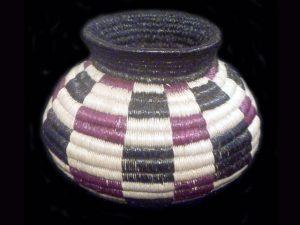 checkerboard split-leaf traditional indigenous basket