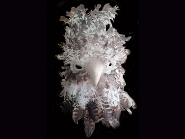 night raptor traditional ceremonial indigenous mask Costa Rica