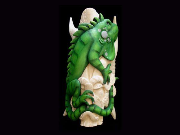 iguana spirit unique carved masks Boruca Costa Rica