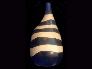 large elegant organic-shaped bottle Lenca tribe pottery, Honduras