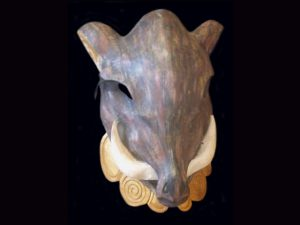 golden wild boar mask Boruca Costa Rica