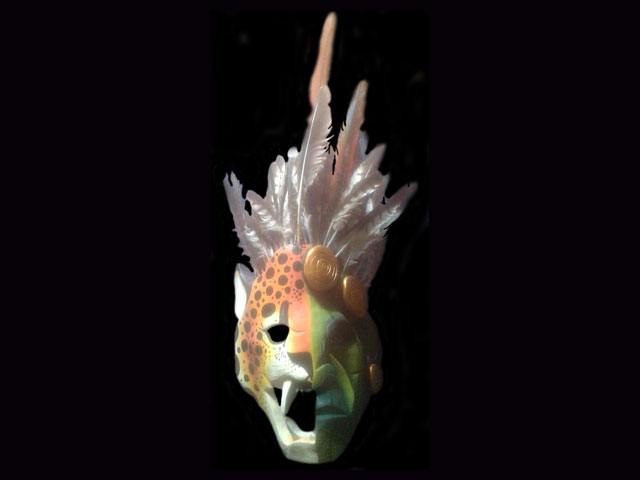 Used Ceremonial Mask 012
