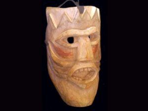 classic Brunka tribal ceremonial mask Boruca village Costa Rica
