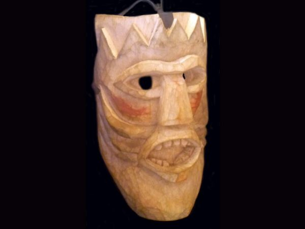 classic Brunka tribal ceremonial mask Boruca village Costa Rica