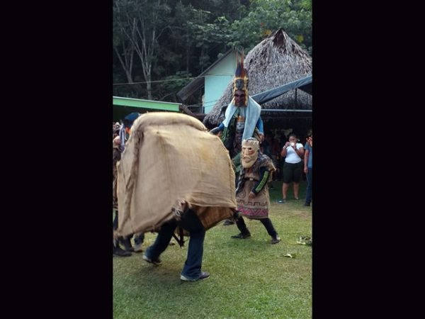 context image classic Brunka tribal ceremonial mask Boruca village Costa Rica