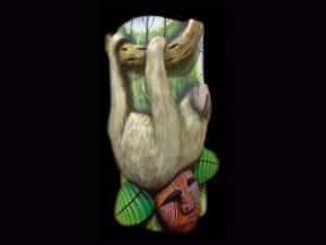 sloth protector indigenous Brunka tribal art Costa Rica