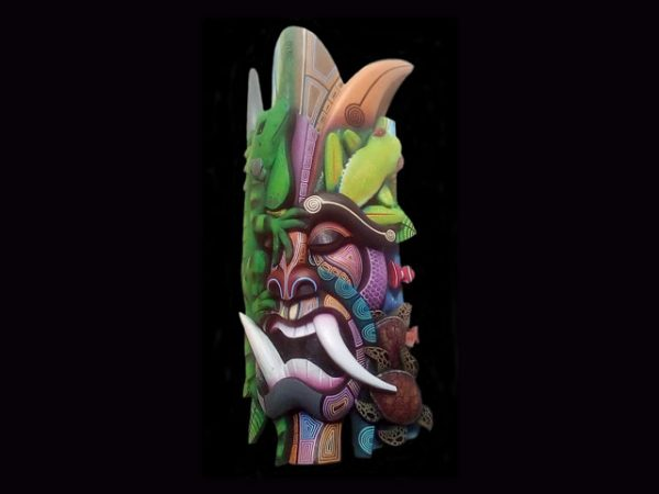 master of animals complex Brunka tribal mask Costa Rica 2