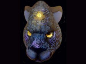 nocturnal presence black panther mask