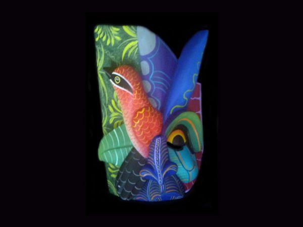 songbird protector Costa Rican tribal mask making