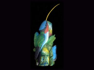 hummingbird study fine indigenous mask arts Costa Rica