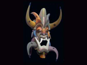 'power centres' traditional diablo mask Boruca Costa Rica