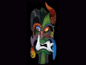 animal skins and petroglyphs traditional indigenous mask Boruca Costa Rica