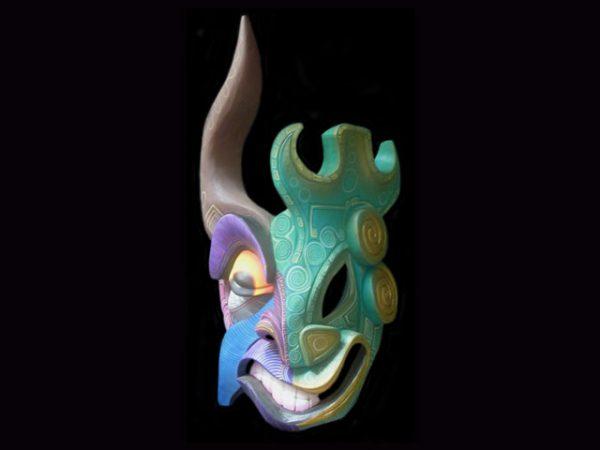 jade demon Brunka tribal mask, Costa rICA