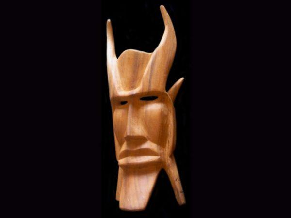 classic Brunka 'diablito' mask, Rey Curre, Costa Rica
