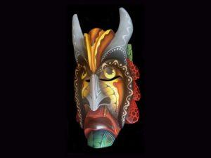 frowning diablo traditional Brunka tribal mask Costa Rica