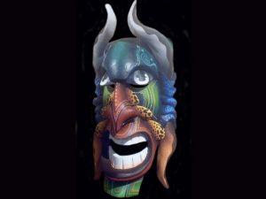 laughing demon Brunka tribal mask