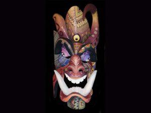 fine details complex Brunka indigenous mask Costa Rica