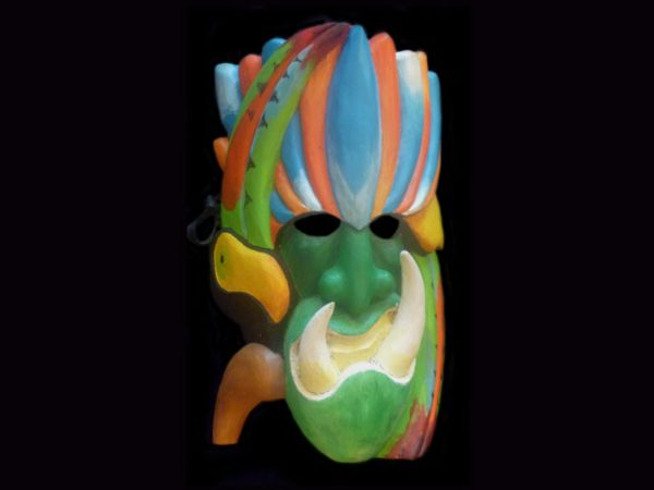 toucan defender, Rey Curre indigenous mask, Costa Rica