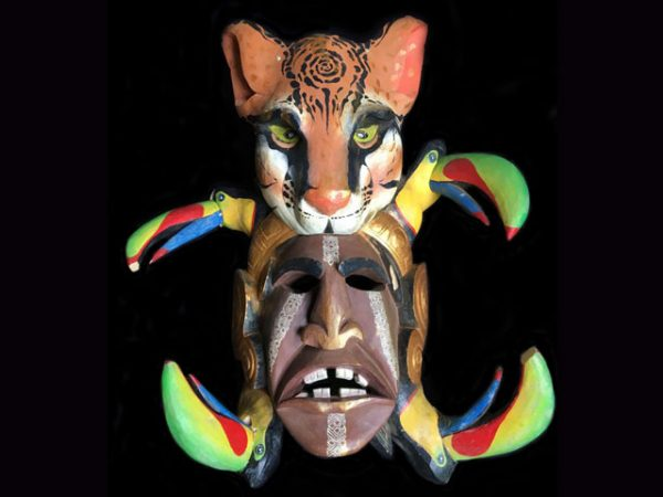 sky and earth power used ceremonial native mask costa rica