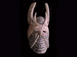 raptor bird energy traditional Brunka tribal mask Costa Rica