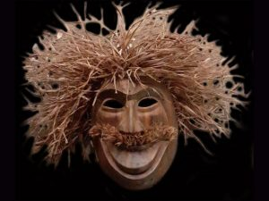 hopping mad traditional hardwood indigenous ceremonial mask Costa Rica