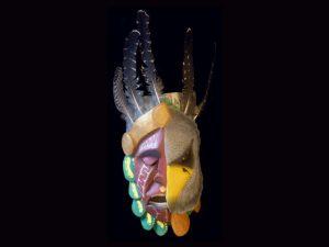 Brunka transformation mask 'danza de los diablitos' Costa Rica