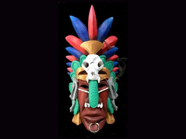 jade encrusted chieftain used ceremonial mask Boruca Costa Rica