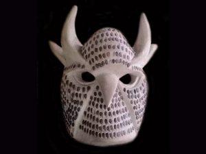 deer-owl Native ceremonial mask Brunka tribe Costa Rica