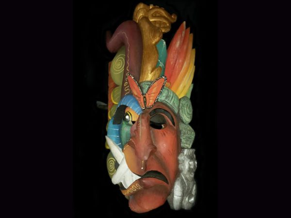 complex cosmological used ceremonial mask Boruca Costa Rica