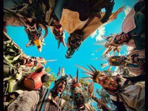 ancestral medicine man used ceremonial indigenous mask Boruca village Costa Rica context