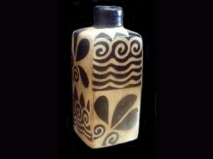 elegant bottle by traditional indigenous Lenca artists Honduras