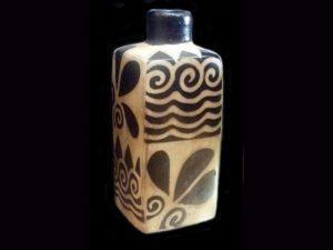 elegant bottle by traditional indigenous Lenca artists Honduras