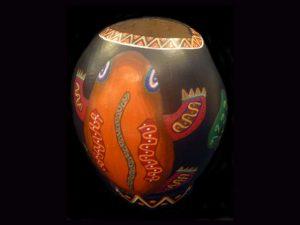 unique jicara 'vase' created by Malehu tribe Costa Rica