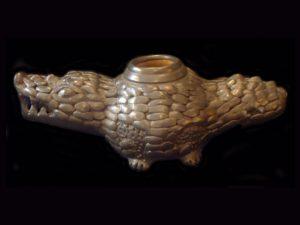 nicoya region crocodile incense burner
