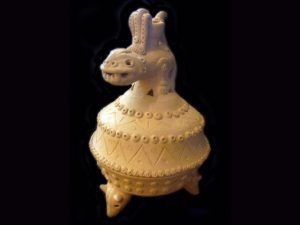 lidded incense burner guanacaste