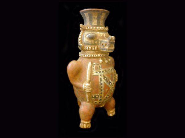 crocodile deity vase gran nicoya