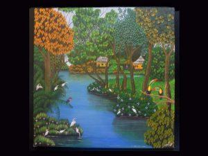 narural habitat and human settlement Lake Nicaragua