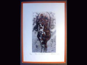 """Pelo de Jaguar"" Marcia Salas limited edition woodcut print"