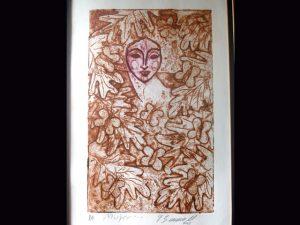 """Mujer..."", Gustavo Serrano limited edition print"