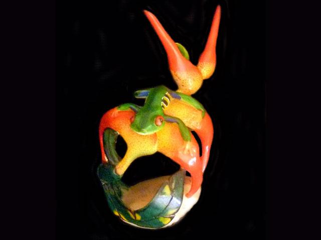Carved Tagua Amphibian 0006