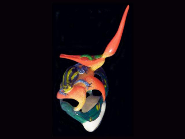 Carved Tagua Amphibian 0009