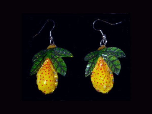 orchid earring pair
