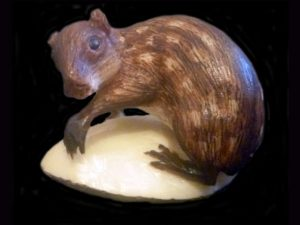 realistic tagua nut carving - paca agouti Central America