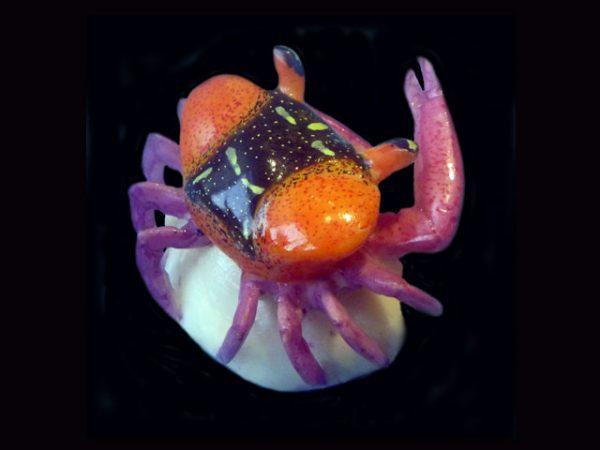 tropical crab figurine