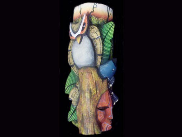 mini 'eco-cultural' Brunka tribal mask art Costa Rica