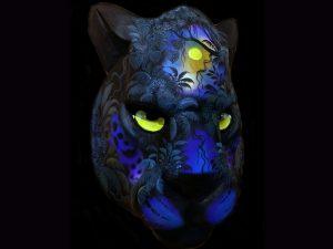 nocturnal panther Brunka indigenous mask arts Costa Rica
