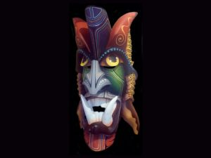 Boruca village classic diablo mask